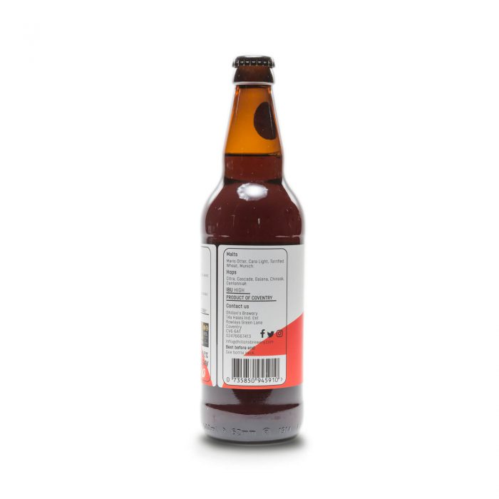 Red Label IPA 500ml bottle reverse 2