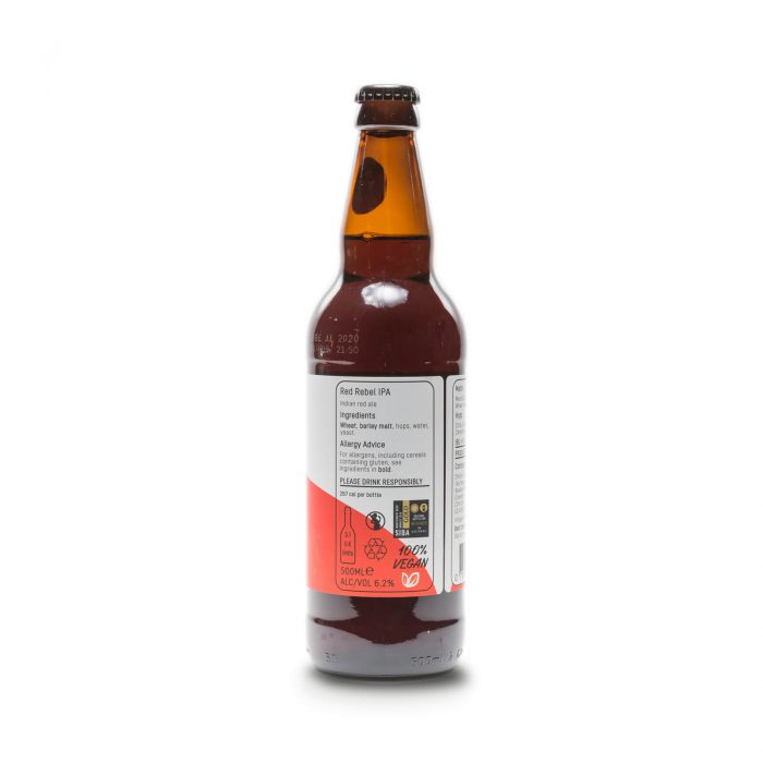 Red Label IPA 500ml bottle reverse
